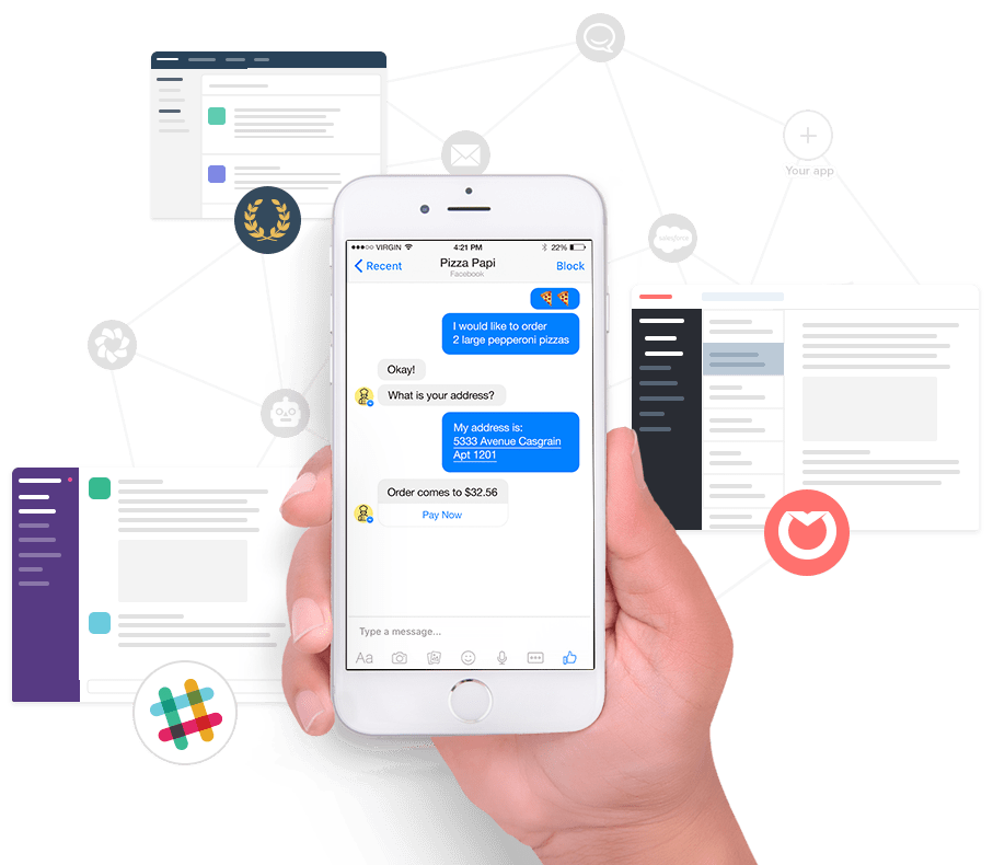 Respond to Messenger from your own business services
